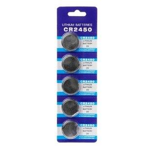 5 шт., батарейки CR2450 для электронных литиевых монет, 3 в, KCR2450, 5029LC, LM2450, игрушечный пульт дистанционного управления