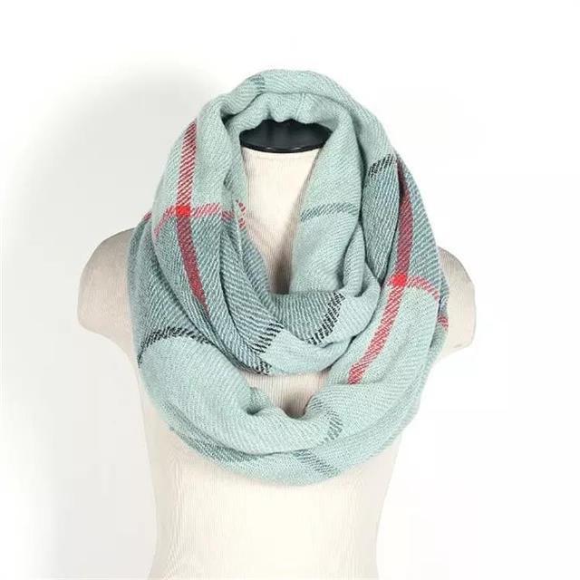 Nuevo anillo de la moda bufandas para mujer y hombre a rayas clásica foulard femme caliente del círculo del cuello de los hombres bufanda