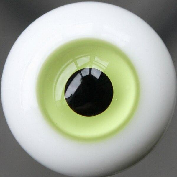 18mm Light Green & Black Pupil For BJD Doll Dollfie Glass Eyes Outfit