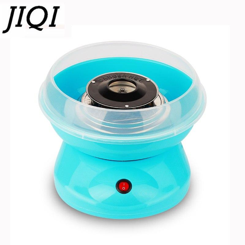 JIQI 110 V/220 V MINI elektrikli DIY tatlı pamuk şeker makinesi taşınabilir hatmi şeker peri ipi bükülmüş şeker makinesi ab abd Plug