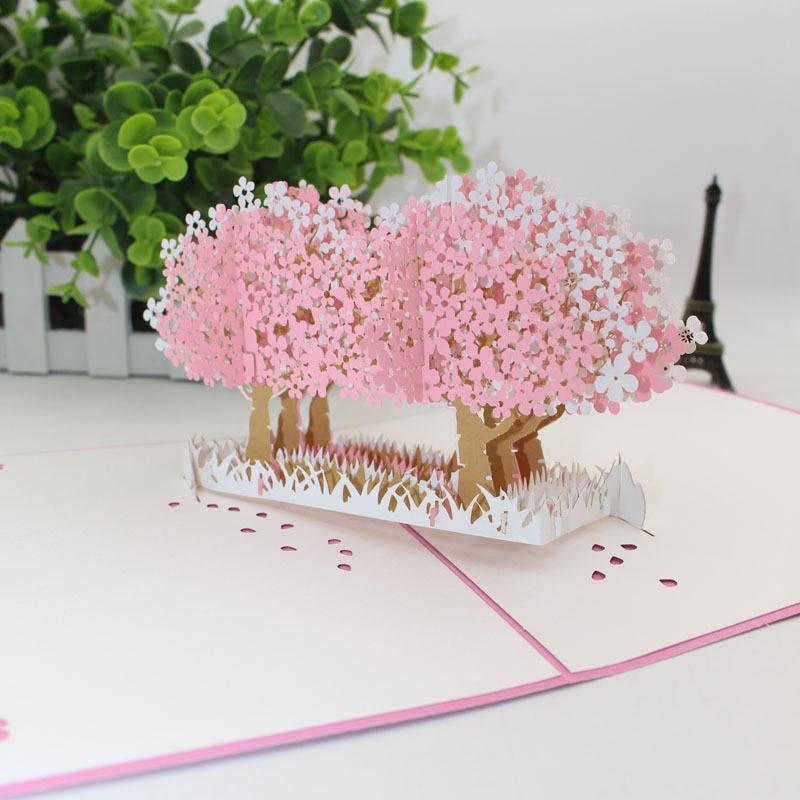 3d cherry blossom tree greeting card birthday card