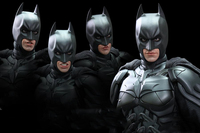 1/6 Batman Moveable Eyes And Mouth Head Sculpt for 12 inches Action Figure Accessories Part DIY Try Different Styles