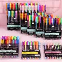 12 18 24 36 48 kolory zestaw markerów Glitter Gel Pen do kolorowania książek czasopisma rysunek malarstwo Doodling Art markery dostaw cheap TouchFIVE Pojedyncze 12 18 24 36 48 colors