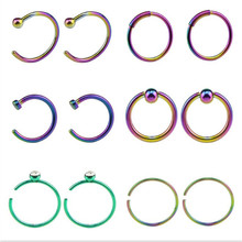 5cc628655 12PCS/Lot Hot Sale Silver Gold Nose Ring Lip Ring Fashion Body Piercing  Nose Studs For Women Men Fashion Jewelry Summer Style