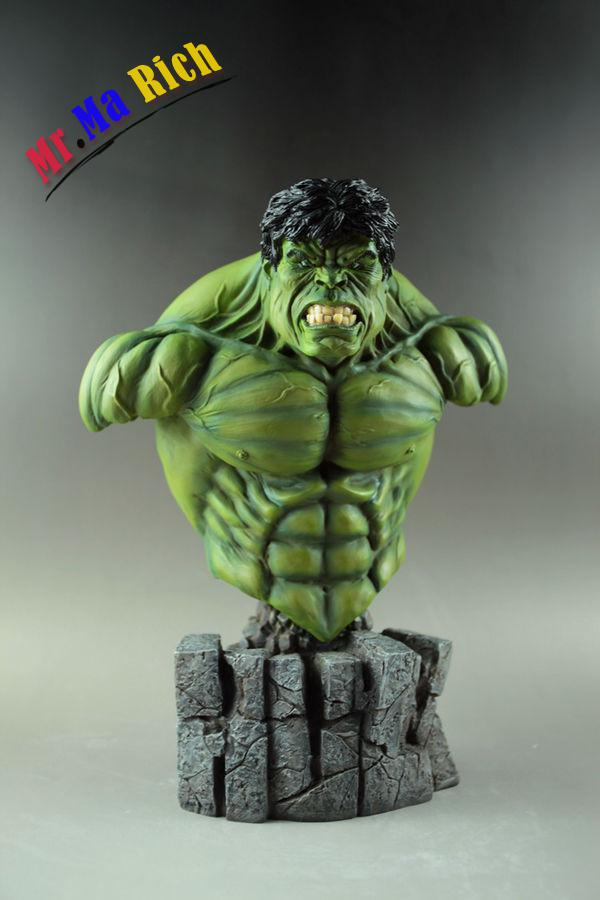 """Avengers Superhero The Incredible Hulk 1/4 Scale Resin Bust Statue 12"""" sideshow the avengers batman 1 1 model of the bust the dark knight statue half length photo or portrait lovers collection wu560"""