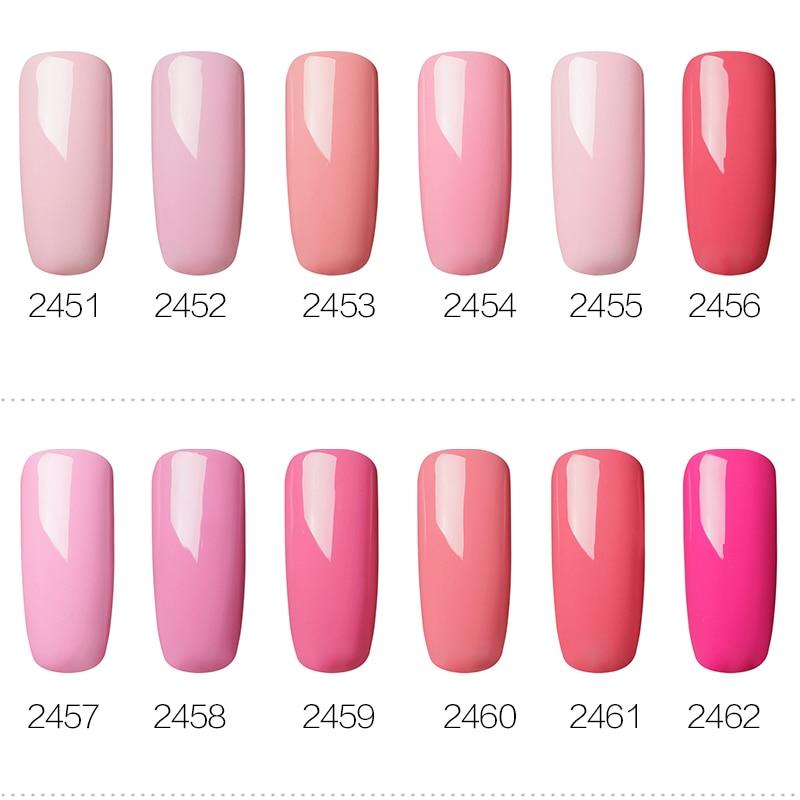 ROSALIND Gel Polish Set UV Vernis Semi Permanent Primer Top Coat 7ML Poly Gel Varnish Nail Art Manicure Gel Lak PolishesNails 4