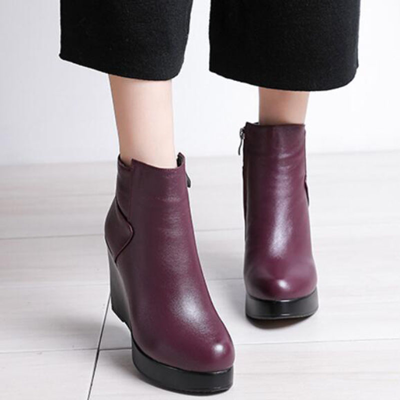 Image 5 - GKTINOO 2020 עור אמיתי סתיו חורף מגפי נעלי נשים מגפי קרסול טריזי מגפי נשים אתחול פלטפורמת נעליים-במגפונים מתוך נעליים באתר