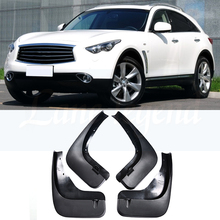 цена на Mudflaps For Infiniti FX35 FX37 FX50 QX70 2009 - 2017 Mud Flaps Splash Guards Mudguards Front Rear 2011 2012 2012 2014 2015 2016