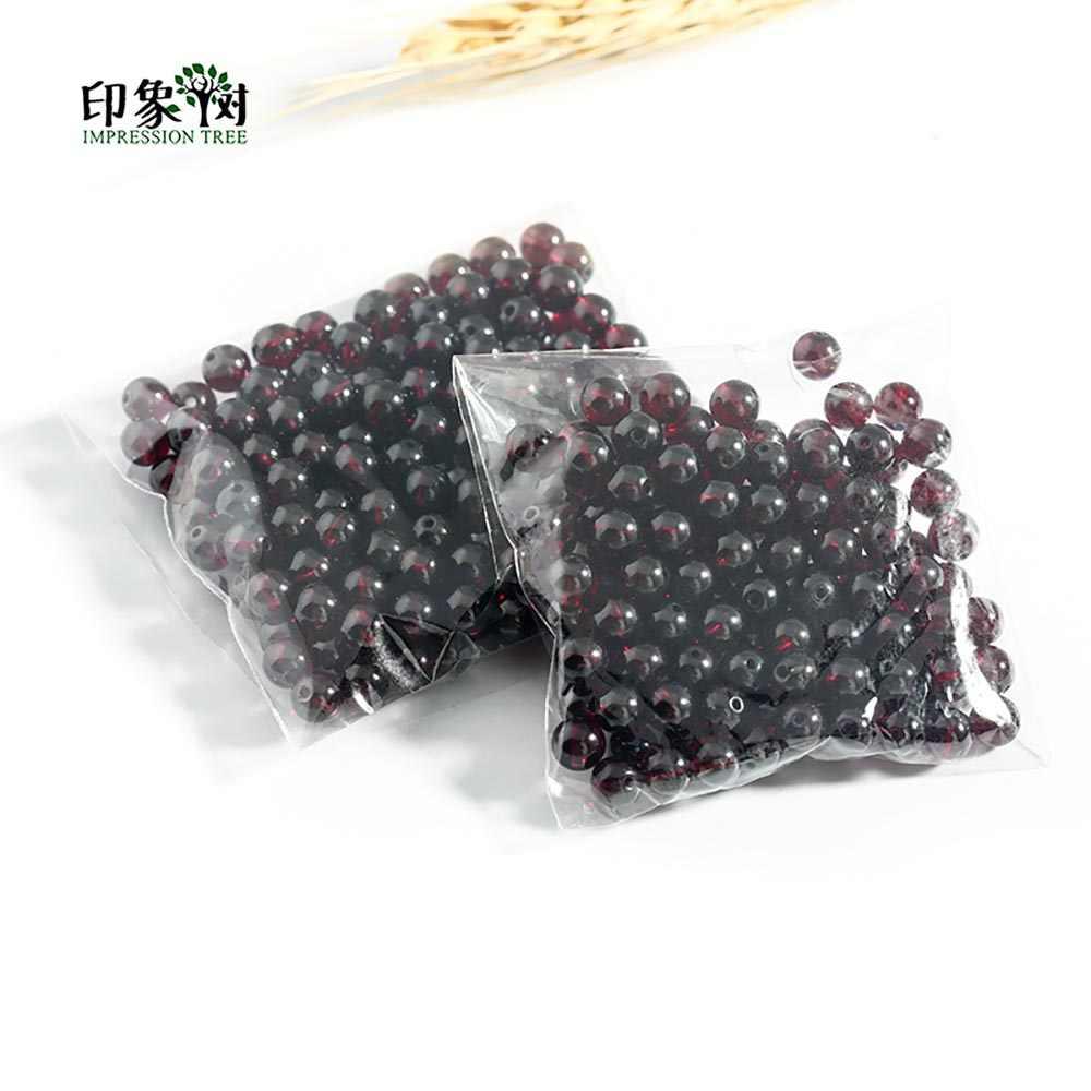 8A Grade 50 stücke 3,5/3,9/4,5/5/5,5/6/6,5mm Natürliche Stein dark Red Glatte Granat Runde Lose Perlen DIY Schmuck Machen 22024