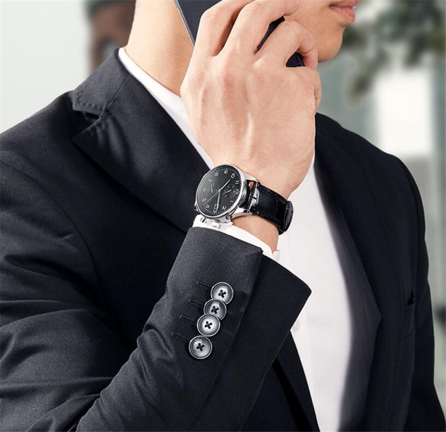 Xiaomi TwentySeventeen Light Business Quartz Watch Multi-function Dual time zone 24 hour display Casual Sport Wristwatch Men Clo (10)