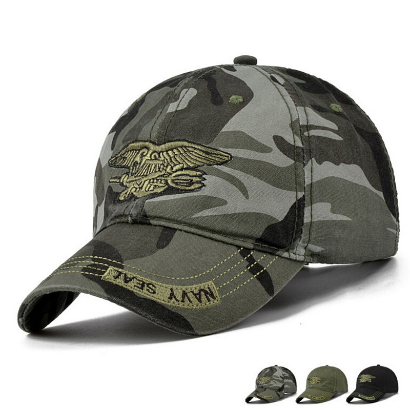 813ff0fb8e6 New Men Navy Seal Cap Top Quality Army green Snapback Caps Hunting Fishing  Hat Outdoor Camo Baseball Caps Adjustable-in Baseball Caps from Apparel ...