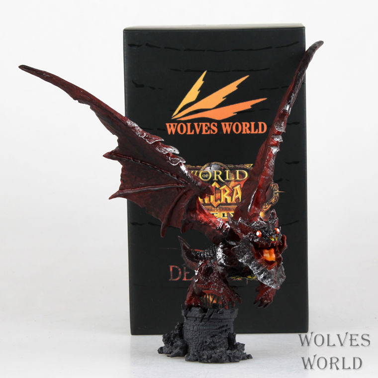 New WOW Deathwing Neltharion in Cataclysm Action Figure MMORPG Video Game Dragon Model Game Players Fan Collection Desk Decor tripwire deathwing