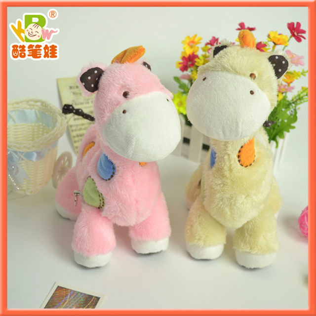 2013 hottest Giraffe plush toy Musical and  shaking  the head stuffed giraffe toys 2colors/lot