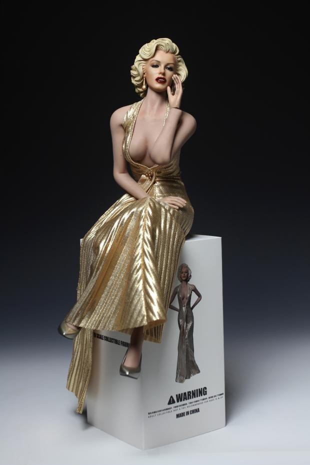 1/6 Scale Famous Star Marilyn Monroe Whole Set Figures Head <font><b>Body</b></font> Dress with Shoes for 12