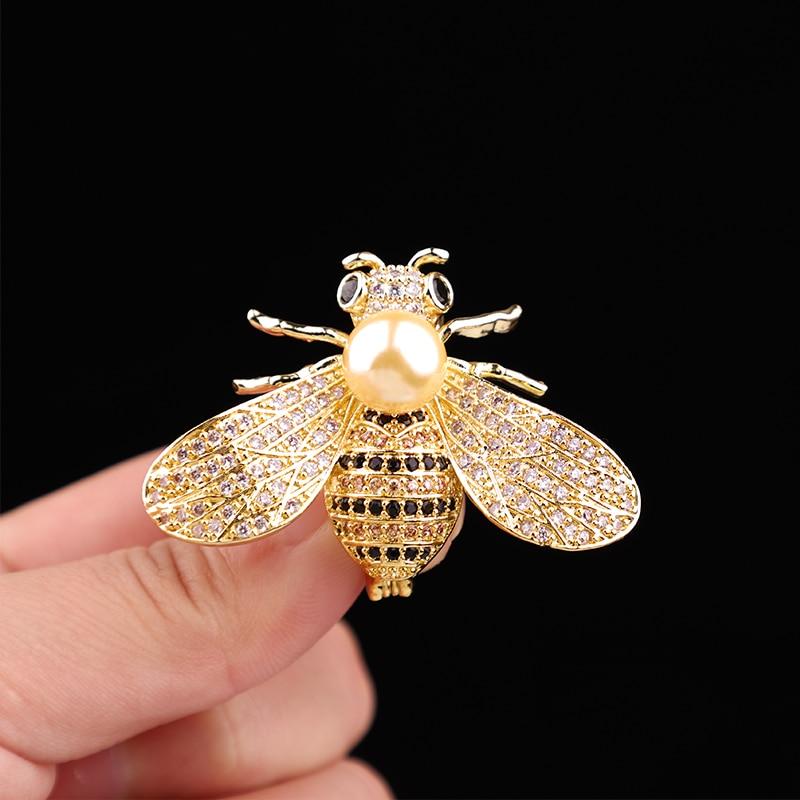 Aimei Bee Brossok Unisex Rovarok Bross Crystal strassz Pin Női és - Divatékszer