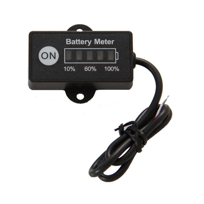 LED 5 BAR display mini battery meter battery indicator 12/24V for motorcycle golf carts test voltage of battery