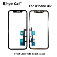 Original Touch Screen Digitizer With Touch Panel Frame Flex Cable for iPhone XR LCD Screen External Outer Glass Replacement