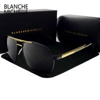 Blanche Michelle High Quality Square Sunglasses Men Polarized Luxury Brand UV400 Mirror Sun Glasses Driving Sunglass