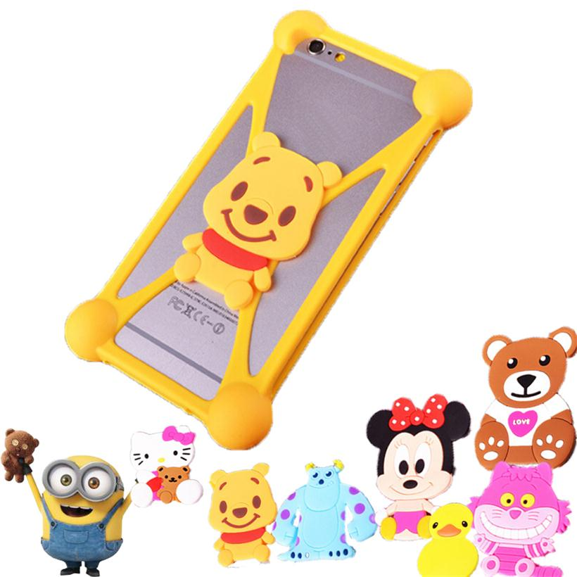 Cute 3D Cartoon Fashion Silicon Mobile Phone Cases For ZTE Blade G Lux Q Lux 3G 4G Fundas Housings Case Silicone Cover