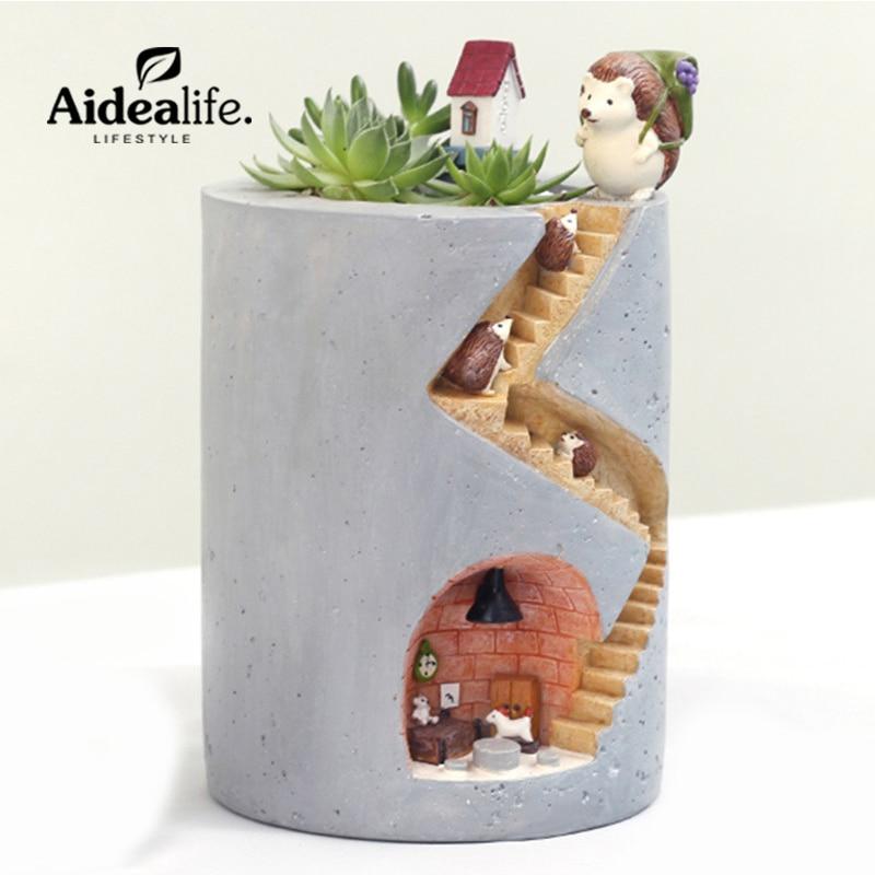 Mini pot de fleur maison et jardin décor à la maison de résine planteurs plantes succulentes pots germination plateaux pépinière pots jardinage