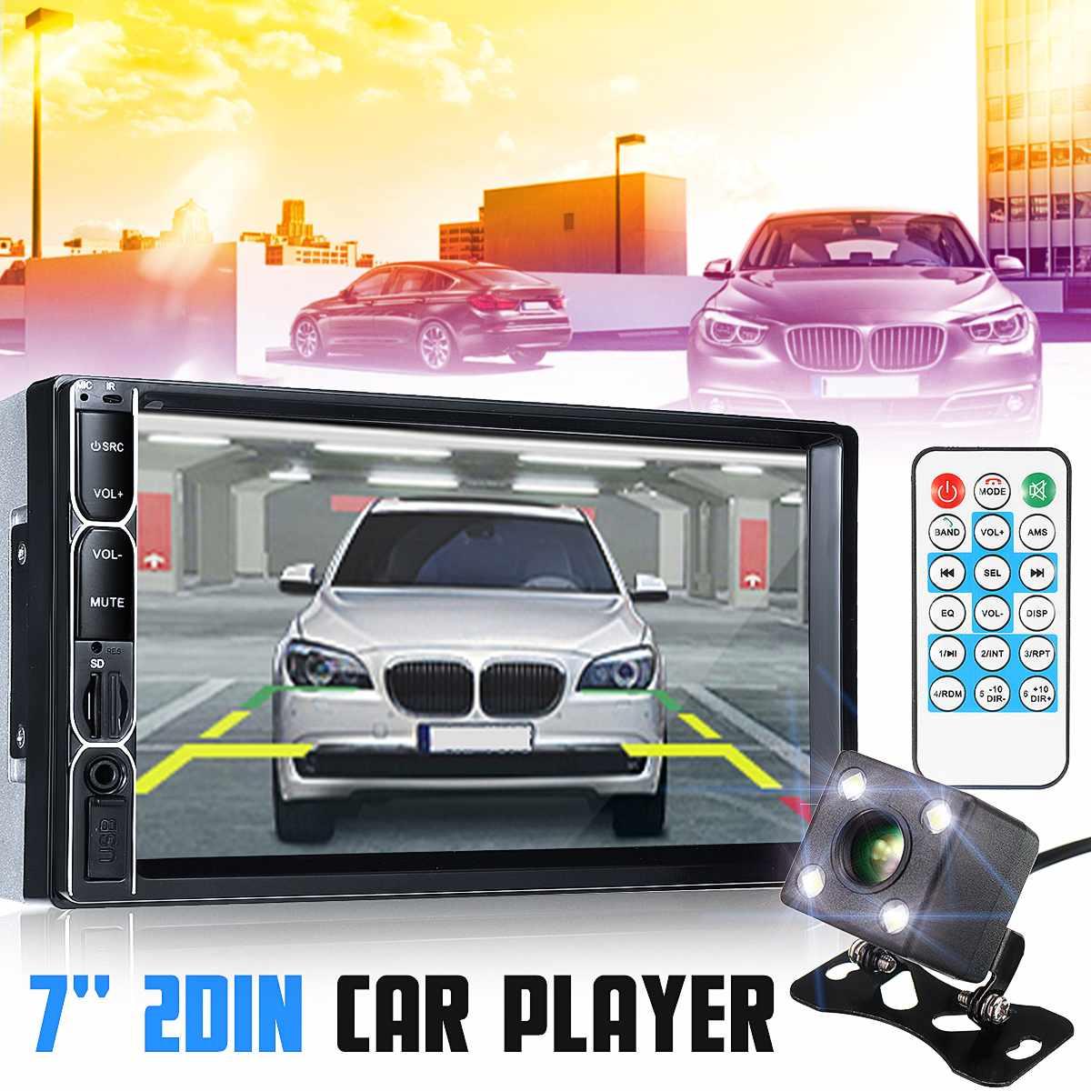 7 ''lecteur MP5 LCD écran tactile autoradio lecteur stéréo bluetooth FM caméra de recul USB miroir lien télécommande