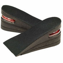 Half size 3 Layer Man 6cm (2.5 inches) Increase Height Insole Taller Pad Ergonomic Design foot arch support W06