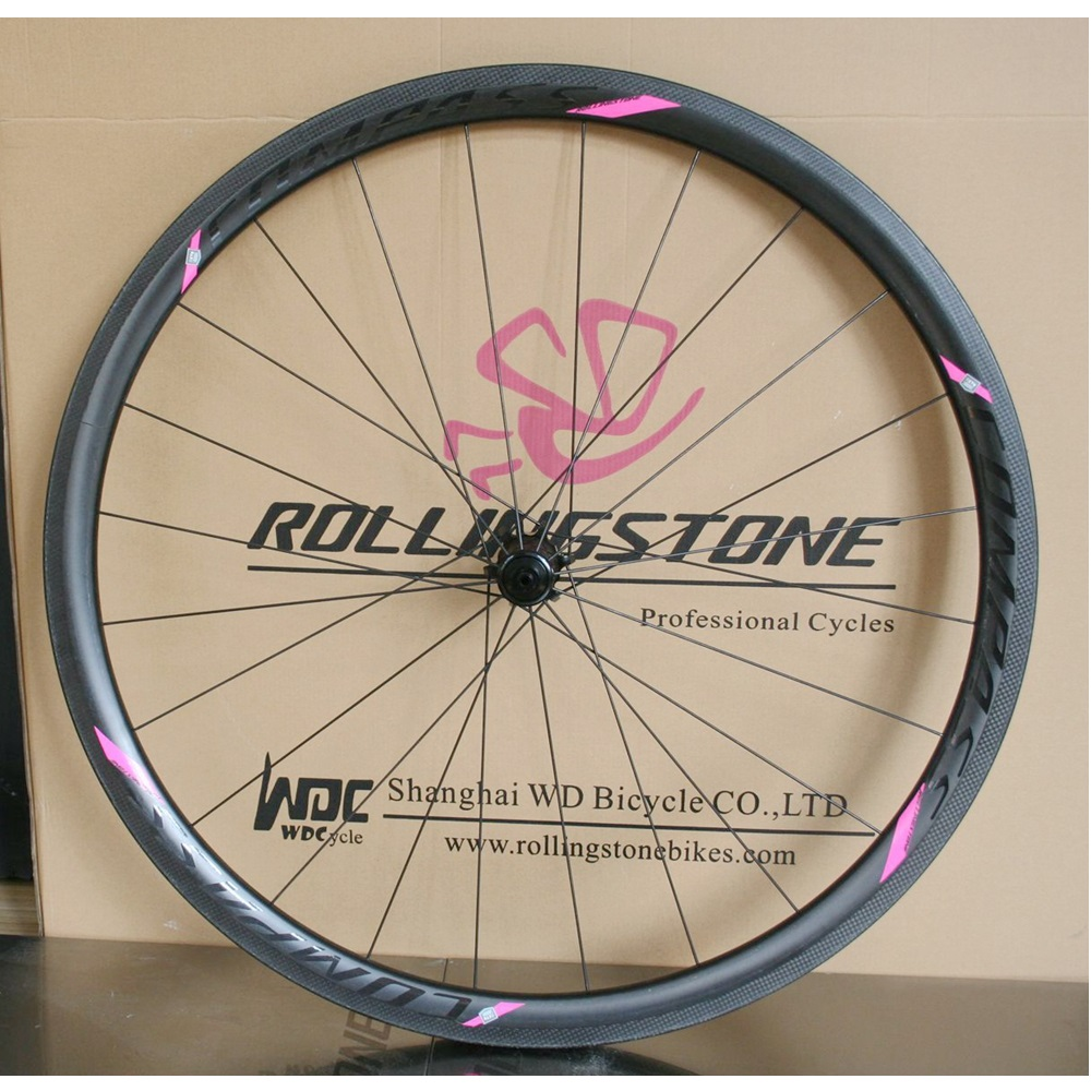 Rolling Stone Carbon Road Wheelset 35mm Clincher Front Rear  Reynolds Rim Pillar 1422 Spoke Sealed Bearing Hubs Ultralight 1430g