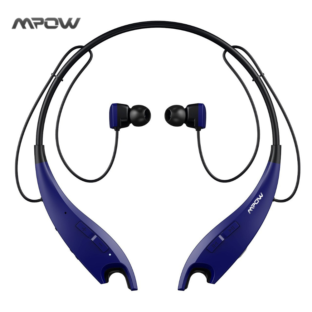 Mpow Bluetooth Headphones Wireless Earphone Neckband Headset with Call Vibrate Alert, Carrying Bag, Built-in Mic wireless service call bell system popular in restaurant ce passed 433 92mhz full equipment watch pager 1 watch 7 call button