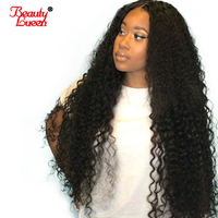 Pre Plucked Lace Frontal Wig 150% Density Deep Wave Human Hair Wig Brazilian Remy Lace Front Wig With Baby Hair Beauty Lueen