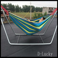 2 Colors Canvas Fabric Double Spreader Bar Hammock Outdoor Camping Swing Hanging Bed Outdoor Hammock in stock Free shipping