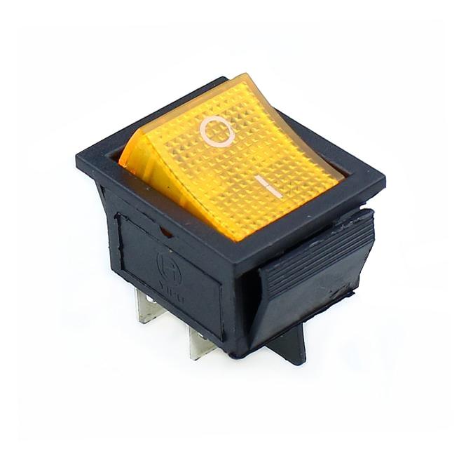 KCD4 кулисный переключатель ВКЛ-ВЫКЛ 2 положения 4 контакта/6 контактов электрооборудование с светильник выключатель питания 16A 250VAC/20A 125VAC - Цвет: yellow