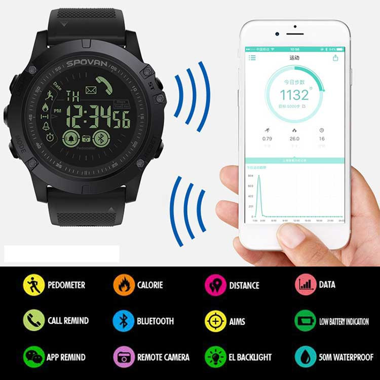 Flagship Rugged Smartwatch 33-month Standby Time 24h All-Weather Monitoring Smart Watch For IOS Android Drop Shopping orologio delle forze speciali