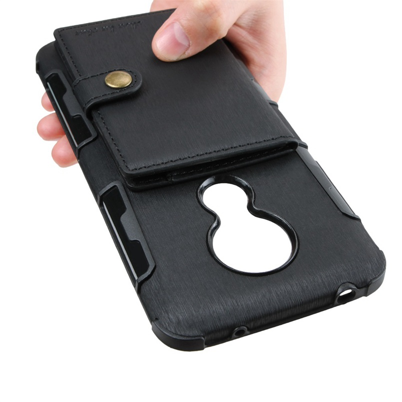 PU Leather Wallet Case for Motorola Moto E5 E G6 Z3 G7 play one power P30 play note Card Holder Buckle Wallet Flip Cover in Half wrapped Cases from Cellphones Telecommunications