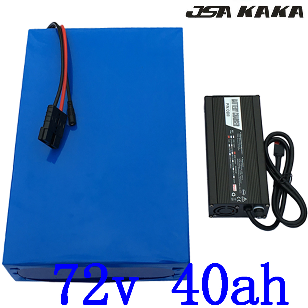 72V 40AH Lithium ion ebike battery use panasonic cell 72V 5000W 6000W 7000W Battery 72V 40AH Scooter Battery with 84V 5A charger image