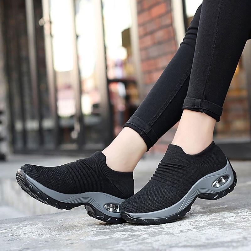 2020 New Fashion Comfortable Air Cushion Women Casual Shoes Ladies Breathable Mesh Women Sneakers Tenis Feminino Shoes Woman
