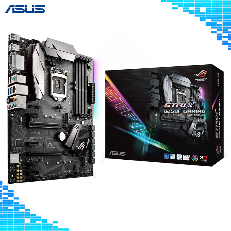 Asus ROG STRIX B250F GAMING Desktop Motherboard Intel B250 Chipset Socket LGA 1151 ATX Motherboard материнская плата asus strix b250f gaming lga 1151 intel b250 atx ret