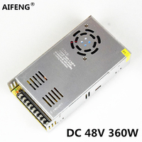 AIFENG 48v power supply 360W 7.5A AC110V/220V to dc 48V Switching Power Supply Transformers for LED Strip Light motor