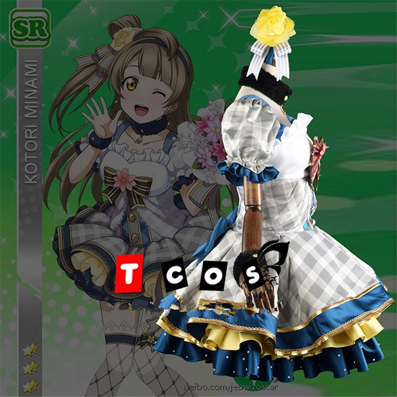 Anime Love Live Minami Kotori Bouquet Awakening High Quality Cosplay Custume dresses Halloween Uniforms wristband+headdreass N