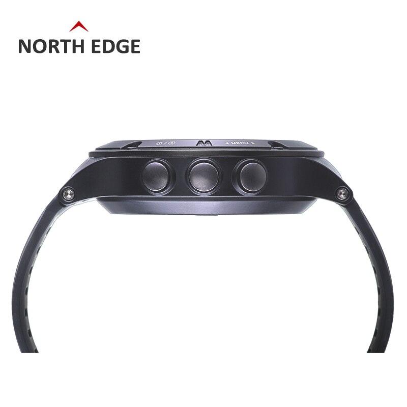 NORTH EDGE montre de sport GPS pour hommes montres numériques résistantes à l'eau fréquence cardiaque militaire altimètre baromètre boussole heures de course - 4