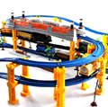 Diamond 138 ШТ. 3 Слоя 4 видов Локомотивов Музыка томас поезд трек железнодорожных слот игрушечных автомобилей электрический поезд игрушки для Детей игрушка