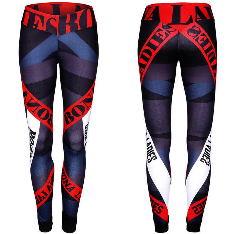 Fitness elastyczne legginsy pora na przygodę! Jegging dla kobiet pracy legginsy Capri legginsy list druku ubrania do ćwiczeń wysokiej talii