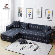 Parkshin Nordic Letter Slipcover Non slip Elastic Sofa Covers Polyester All inclusive Stretch Sofa Cushion 1/2/3/4 seater