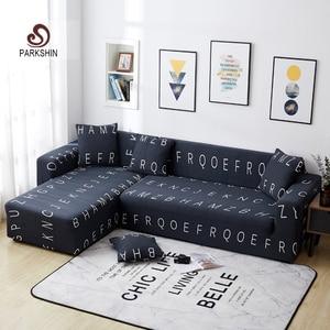 Image 1 - Parkshin funda de sofá elástica antideslizante con letras nórdicas, protector de sofá elástico de poliéster, todo incluido, para 1/2/3/4 asientos
