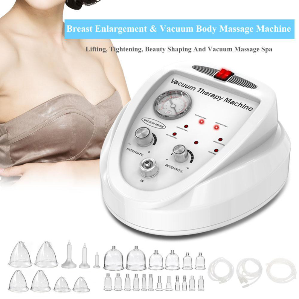 Breast Massage New Fashionable Breast Enlargement Butt Enhancement Vacuum Therapy Body Massage Machine EU Plug