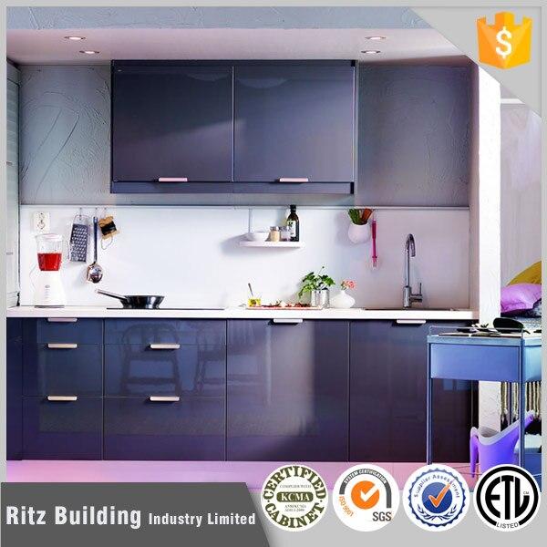 Estilo moderno de color púrpura mdf lacado alto brillo gabinete de ...