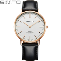 GIMTO Luxury Brand Men Watches Men S Quartz Hour Clock Man Leather Strap Sports Classic Waterproof