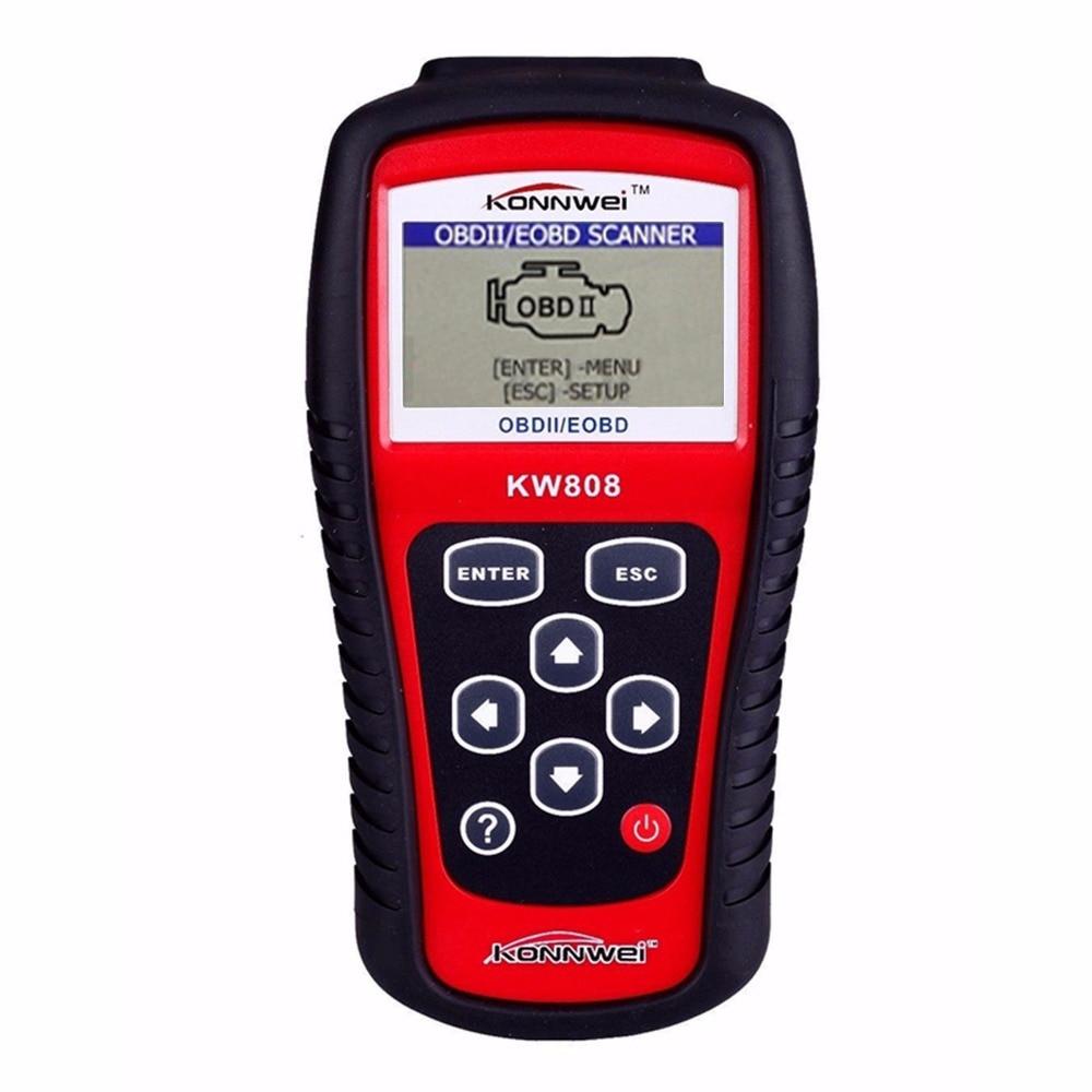 Цена за 2017 OBD2 Сканер KONNWEI KW808 Автомобиля Диагностический Код Читателя МОЖЕТ Двигатель Сброса Инструмент Авто Сканер Охват (сша Азии и европейский)