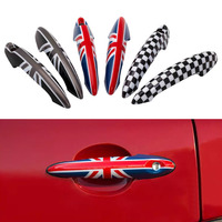 2Pcs Union Jack Car Door Handle Cover Stickers Decal For Mini Cooper JCW R55 Clubman R56 R57 R58 R59 R61 Car Styling Accessories