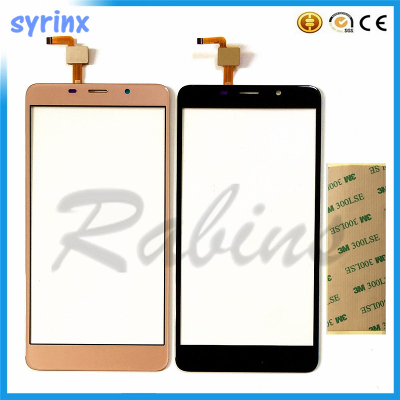 5.7 Inch Front Glass Sensor Phone Touchscreen For LEAGOO M8 Touch Screen Digitizer Panel For LEAGOO M8 Touchpad 3M Sticker
