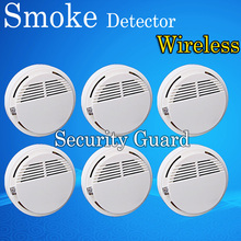Hot Selling Wireless Smoke Detector Fire Alarm Sensor for Indoor Home Safety Garden Security 6pcs